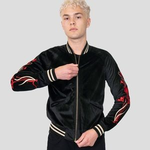 Straight to Hell Deepest Valley Bomber Jacket